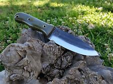 KRF Custom Bushcraft / Survival / Camping Knife  O.D Green USA Made /Free Ship