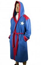 Captain America Hooded Character Robe with Belt- Size L/XL- FREE S&H