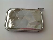 Smashbox Silver Zippered Make up bag / pouch - Brand New.