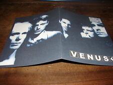 VENUS - RARE BIOGRAPHIE PROMO WELCOME TO THE MODERNE !!