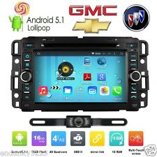 "7"" 4Core Android 5.1 Car Stereo Radio DVD Player GPS Nav For GMC Chevy Chevrolet"