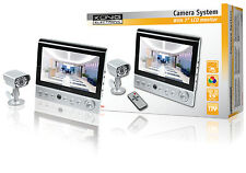 "SYSTEME DE SURVEILLANCE CAMERA SANS FIL IR AUDIO VIDEO MONITEUR LCD 7"" 4 CANAUX"