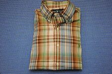 MEN'S POLO RALPH LAUREN PLAID SHIRT SMALL S CLASSIC FIT GREEN PONY MINT CHECK