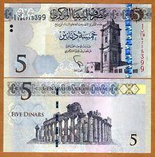 Libya, 5 Dinar, 2015 (2016), Pick New, UNC