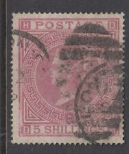 GB SURFACE PRINTED:1867 Maltese Cross 5/- rose  D-H plate 2   SG126 used