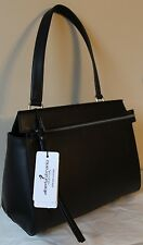 Alberta Di Canio BlackTaupe Italian Leather Melissa Bag Purse  Made in Italy NEW
