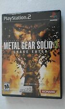 PS2 SONY PLAYSTATION 2 USA NTSC METAL GEAR SOLID 3 : SNAKE EATER