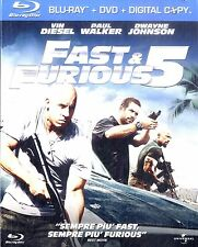 FAST & FURIOUS 5 Vin Diesel BLURAY + DVD Come Nuovo