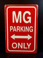 MG Parking Only Metal Sign / Vintage Garage Wall Decor (30 x 40cm)
