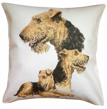 Airedale Breed of Dog Group Cotton Cushion Cover - Perfect Gift