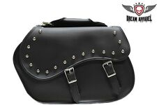 """16"""" Motorcycle Saddlebags for Harley Davidson Sportster Softail Dyna & MORE"""