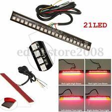 Universal Flexible 21 LED Motorcycle ATV Tail Brake Stop Turn Signal Strip Light