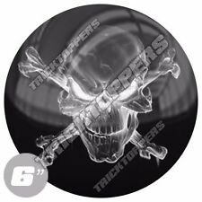 "1 Premium 6"" 3M Decal Sticker For Car Truck SUV Window Bumper - GHOST SKULL WHT"