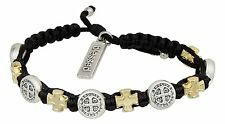 BLESSINGS IN FAITH Inspirational Benedictine Medal Bracelet, by My Saint My Hero