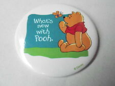 """VINTAGE 3 1/2"""" PINBACK BUTTON #67- 34 - DISNEY - WHATS NEW WITH WINNIE THE POOH"""