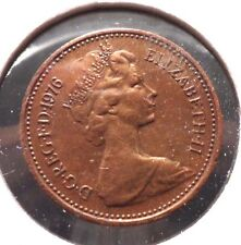 CIRCULATED 1976 1 NEW PENNY UK COIN! (#41615)