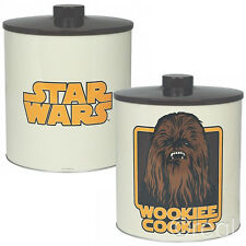 New Star Wars Chewbacca Wookiee Cookies Biscuit Barrel Tin Jar Wookie Official