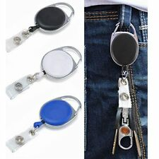 Retractable Lanyard ID Name Badge Card Holder Business Security Pass Tag ABS