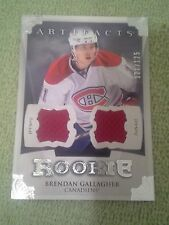 2013-14 Artifacts BRENDAN GALLAGHER Rookie RC Jersey #d/125 Montreal Canadiens
