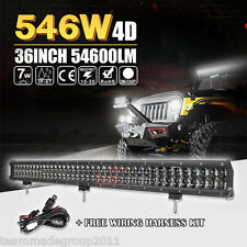 "4D 36INCH / 37"" 54600LM CREE LED LIGHT BAR WORK SPOT FLOOD BEAM CAR BOAT PICKUP"