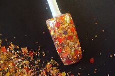 glitter mix acrylic gel nail art    LUVIN the ORANGE  Limited Edition  15 MADE