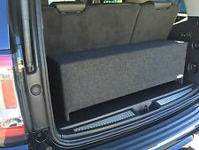 """Charcoal 12""""  Dual Sealed SUVs Box W/3rd Row Seat Enclosure Divided Sub Chambers"""