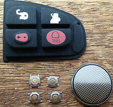Jaguar X Type XF E S 4 Button Remote Key Fob Case Full Repair Kit UK Seller