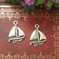 new sailing boat Tibetan Silver charms Pendants 10pcs 23x16mm  free shipping