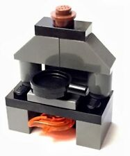 Lego Stove Oven Cooker Hob Pan Frying Pan Cook Cooking Minifigure MOC Custom