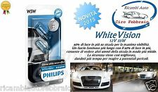2LAMPADE PHILIPS WhiteVision Peugeot 306 Break 03/97 04/02 W5W 12V 5W +60% 4300K
