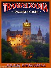Dracula Bran's Castle Transylvania Romania Travel Art Poster Advertisement