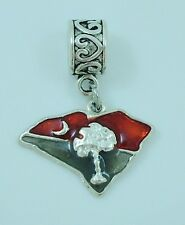 South Carolina  Slider Charm fits European Bracelets or Necklace