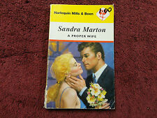 A PROPER WIFE  BY  SANDRA MARTON #MILLS & BOON#