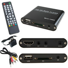 AGPTEK HD Multi TV Media Player Full 1080P Digital With HDMI AV SD MMC MKV AVI