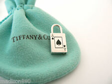 Tiffany & Co Silver Ace Spade Spades Padlock Pendant Charm for Necklace Bracelet