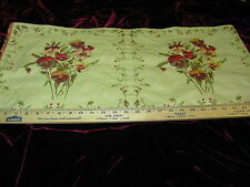"~2 PIECE~""PANSIES FLORAL""~EMBROIDERED PILLOW PANEL UPHOLSTERY FABRIC FOR LESS~"