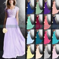 Classical Cap Sleeve Party Prom Bridesmaid dress Formal Evening Dress Size 6++18