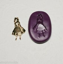 Silicone Mold Alice In Wonderland Girl Charm Mould (24mm) PMC Clay Jewelry