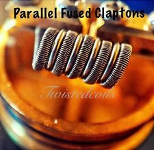 (10) Parallel Fused Clapton Coil (Twisted Coils Vape Coils Rda Coils)+ Cotton