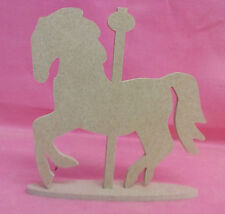 4mm Thick MDF Merry go round Horse on a base