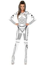 Clearance Womens Leg Avenue robot print catsuit adult costume 86639 Small NWT