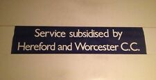 "Acocks Green Lower Bus Blind 34""- Service By Hereford & Worcester CC (Navy)"