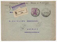 1910 REGNO 50 CENTESIMI PERFIN CI SU RACCOMANDATA FIRENZE 4/2 C/5960