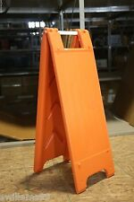 "Plastic A-Frame - 12""x24"" Narrowcade (Orange)"