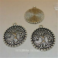 "3pc Tibetan Silver Charms ""Tree Of Life"" Pendant Beads Jewellery Findings  PL898"