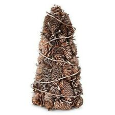 Smith & Hawken Frosted Pinecone & Twisted Twig Holiday Christmas Cone Tree Decor