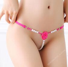 Sexy Glas Perlen String Tanga OUVERT Slip Hotpants Dessous Panty S M L XL FERANI