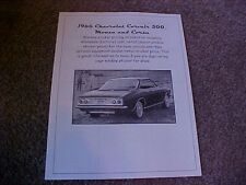 1966 Chevrolet Corvair factory cost/dealer sticker prices for car & options $$$