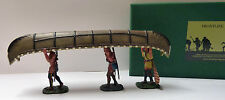 Frontline Figures, Indian Wars, 3 Indianer Kanu tragend, IWC4, Maßstab 1/32