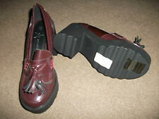 BRAND NEW WITH LABELS LADIES SHOES SIZE 5 UK  38 EU  ATMOSPHERE  BURGUNDY